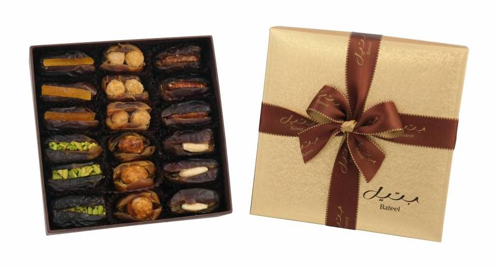 Bateel USA Cassandra Ballotine Gift Box with Gourmet Dates, 2 Layers