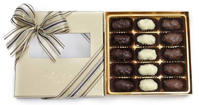 Bateel USA Date Chocolates -  Almond Rocher Assortment (15 Pieces)