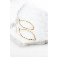Hammered Gold Marquee Hoops