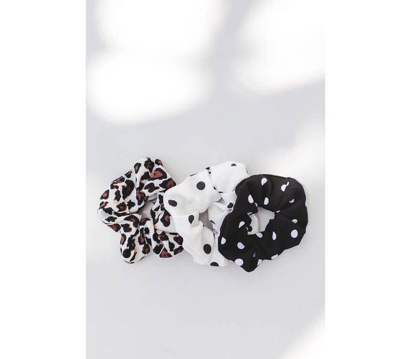 Polka Dot & Leopard Scrunchies