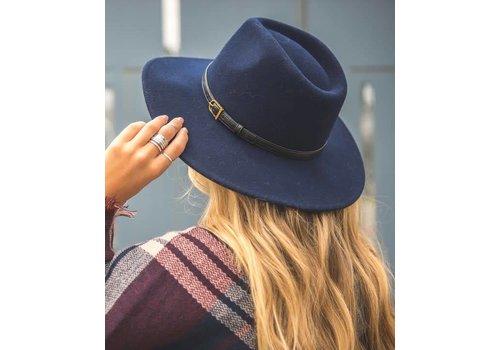 Navy Wool Felt Hat