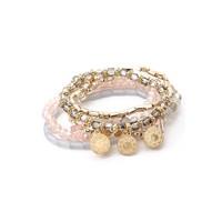 Pink & Gray  Bracelet Stack