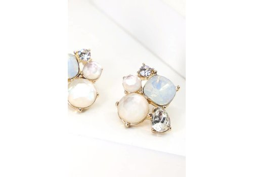 Crystal Cluster Earrings- 2 Color Options