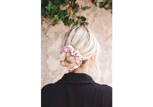 Checkered Hair Scrunchie