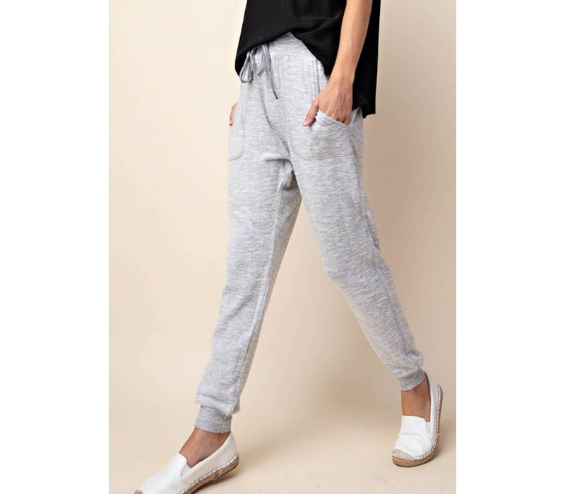 Heather Gray Marbled Jogger Sweat Pants
