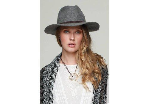 Gray Wool Felt Panama Hat