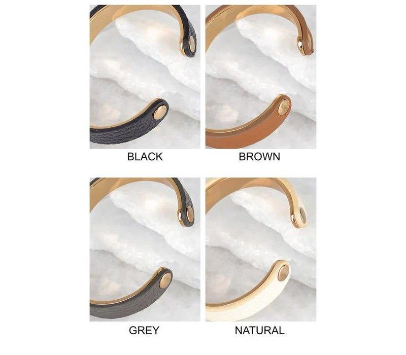 Genuine Leather & Metal Cuff Bracelets