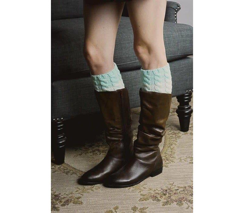 Ombre Mint Boot Cuffs