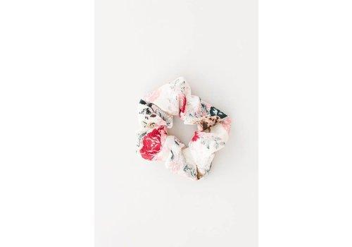 Watercolor Floral Scrunchie