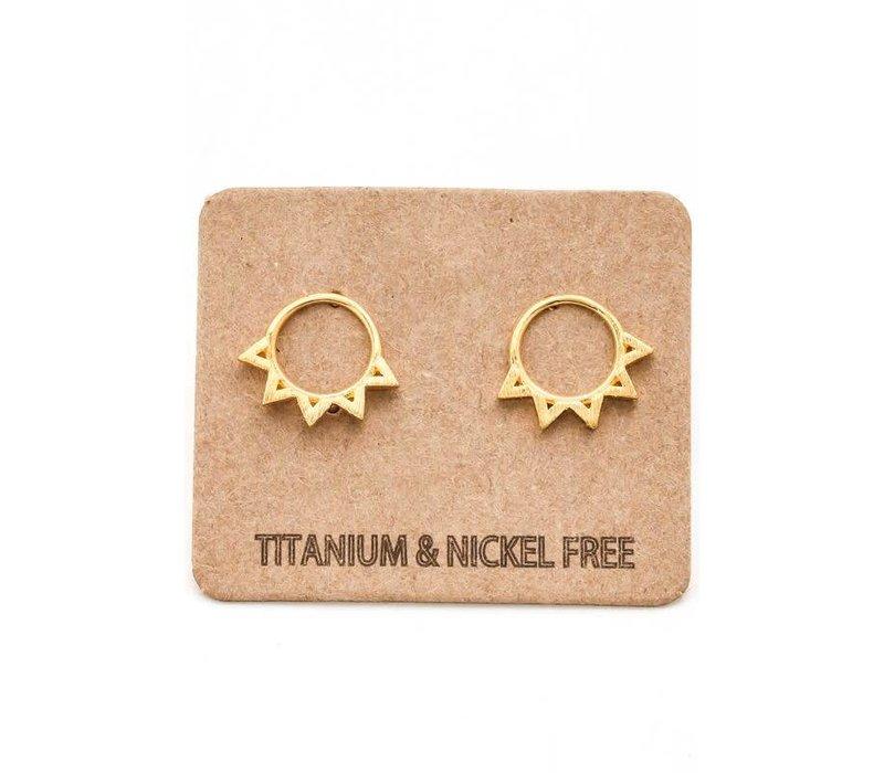 Spiked Sun Earrings