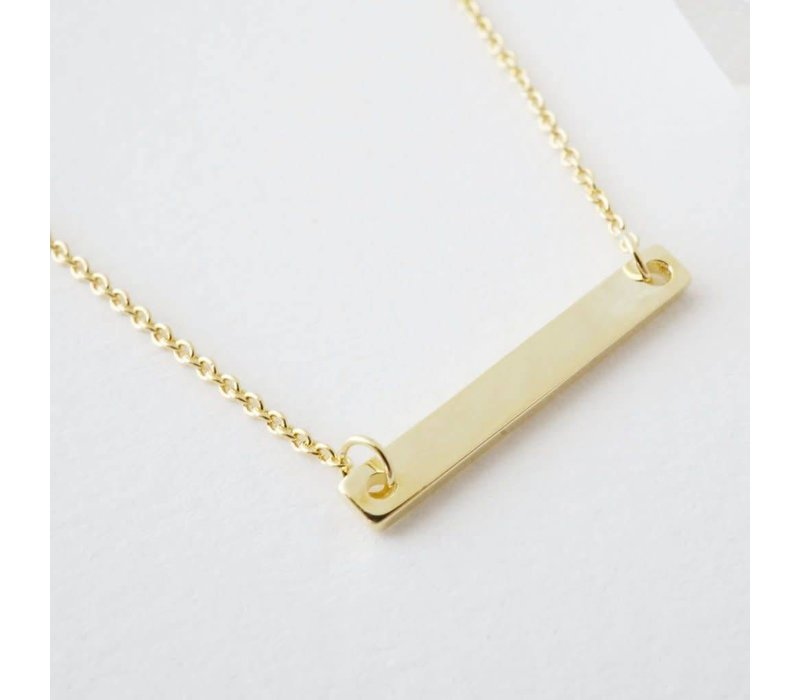 24k Gold Plated Classic Bar Necklace