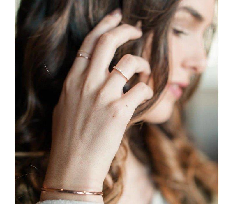 18k Rose Gold Plated Skinny Cuff Bracelet