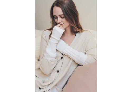 Ribbed Ivory Knit Arm Warmer