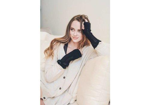 Knit Arm Warmers in Black