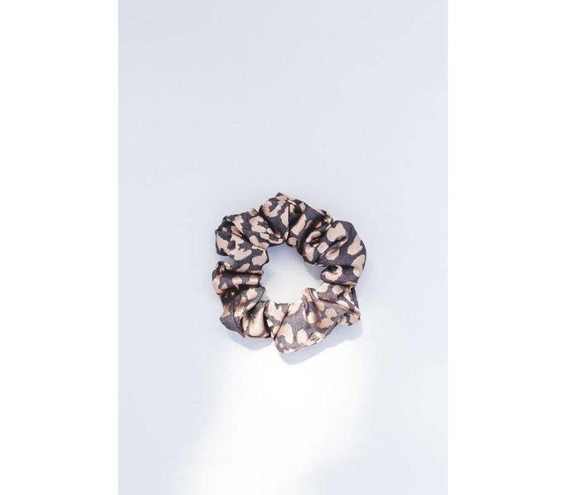 Golden Leopard Hair Scrunchie