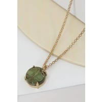 Natural Stone Pendant Necklaces in NEW COLORS!