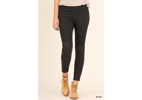 RESTOCK: Black Moto Jeggings (Small-2X)