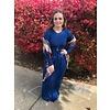 Sapphire Blue Long Sleeve Pocket Maxi Dress (S-3X)