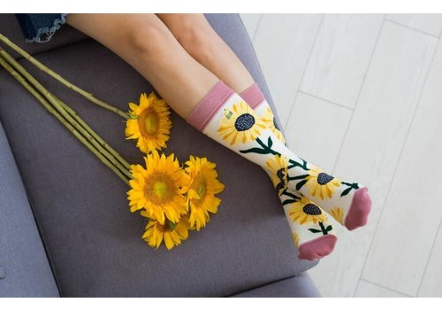 You Are My Sunshine Sunflower Socks