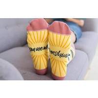 You Are My Sunshine Sunflower Socks