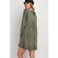Mineral Washed Olive Tunic