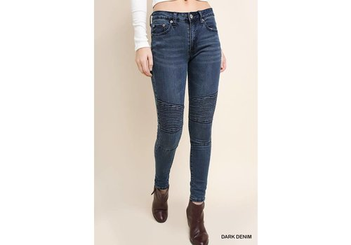 Dark Denim Moto Jeans