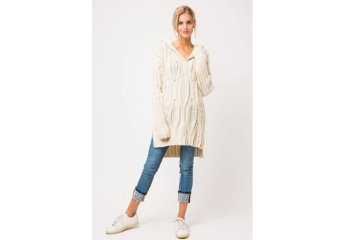 Ivory Cable Knit Sweater Dress