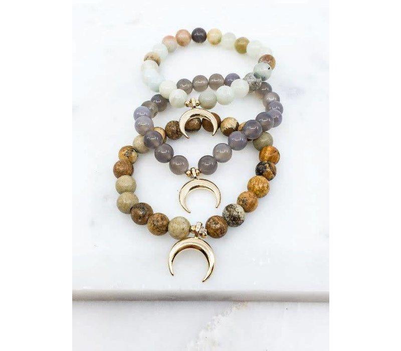Horn Pendant Natural Stone Bracelets