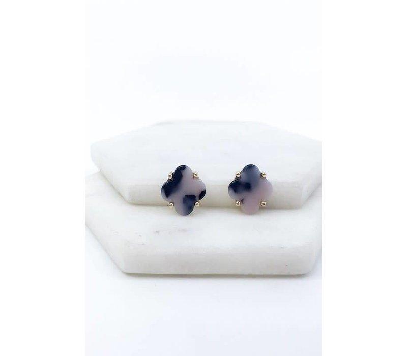 Marbled Clover Earrings
