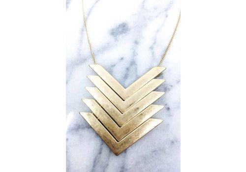Stacked Gold Chevron Necklace