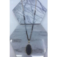 Natural Stone & Glass Beaded Necklaces- 4 Color Choices