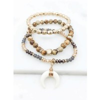 Boho Horn Bracelet Stacks