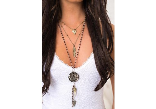 Boho Layered Sun Medallion Necklace