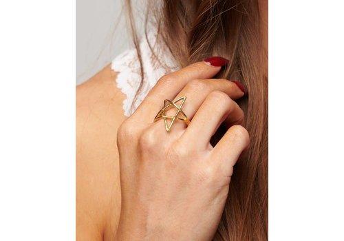 Adjustable Gold Star Ring