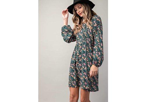 Bohemian Collect Black Floral Shift Dress