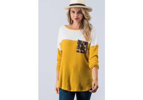 Leopard Pocket Mustard Thermal