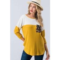 Leopard Pocket Mustard Thermal