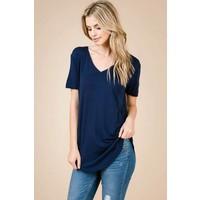 Shop Fav' Modal Vneck Tees in Navy & Slate Blue