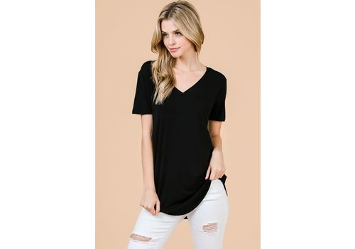 Shop Fav' Modal Vneck in Black & Coco
