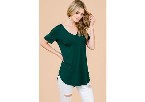 Shop Fav' Modal Vnecks in Mauve & Emerald Green