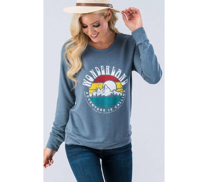 Adventure is Calling Graphic Knit Pullover
