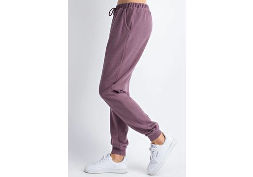 Mauve Brushed Joggers