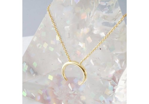 RESTOCK: 24k Gold Plated Crescent Horn Necklace