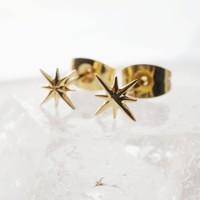 Celestial Starburst Studs (Silver & Gold)