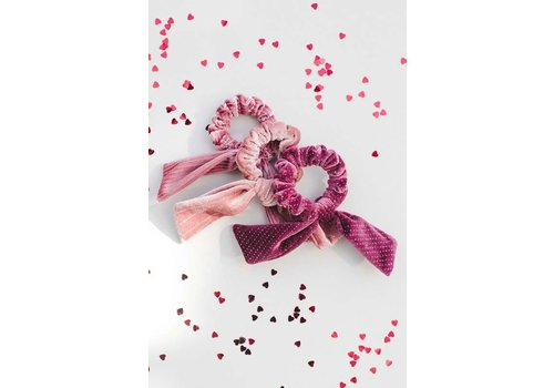Valentine Velvet Bow Hair Scrunchies