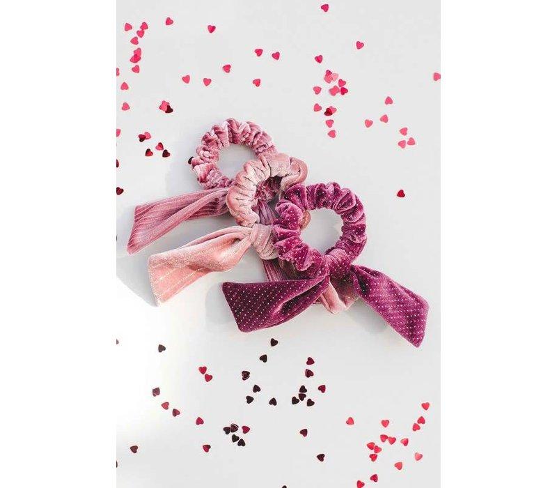 Velvet Bow Hair Scrunchies