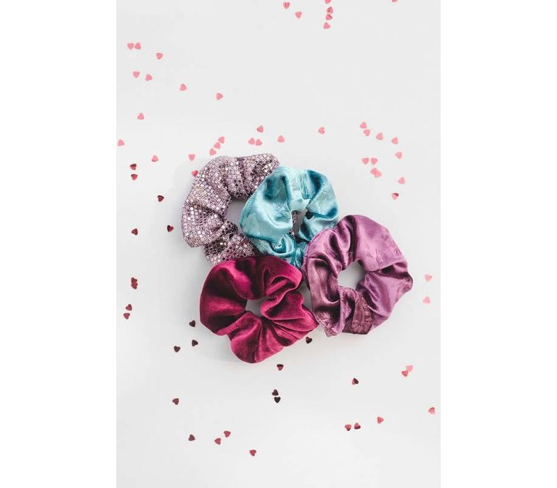 Velvet & Glitter Hair Scrunchies