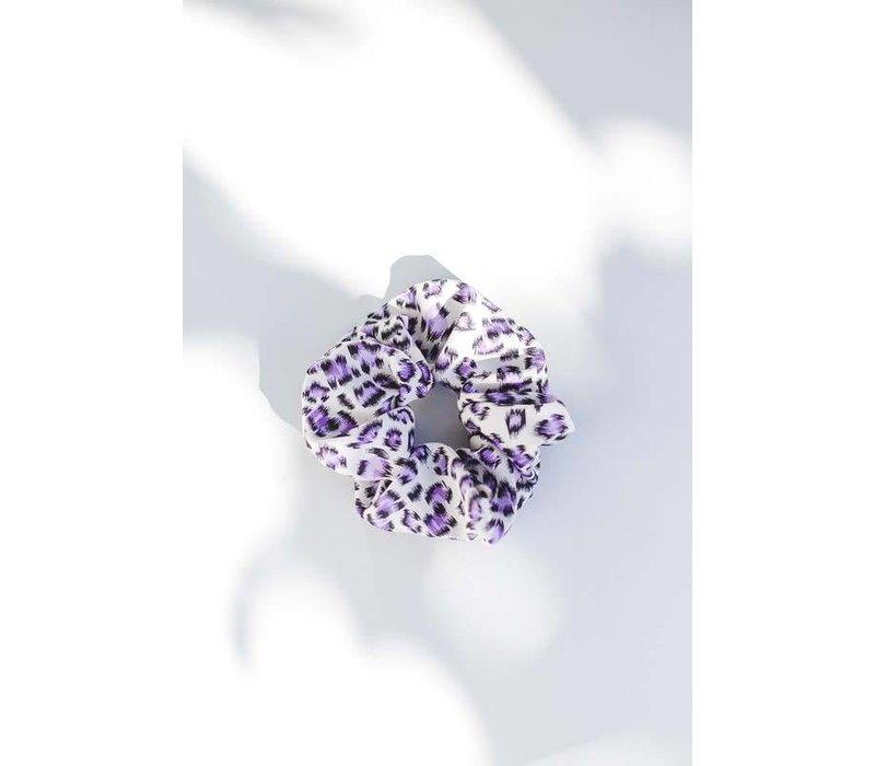 Purple Leopard Scrunchies