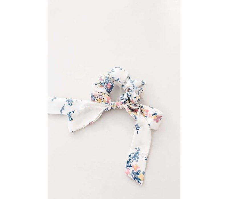 Spring Floral Bow Scrunchie