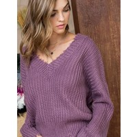 Amethyst Twist Back Sweater